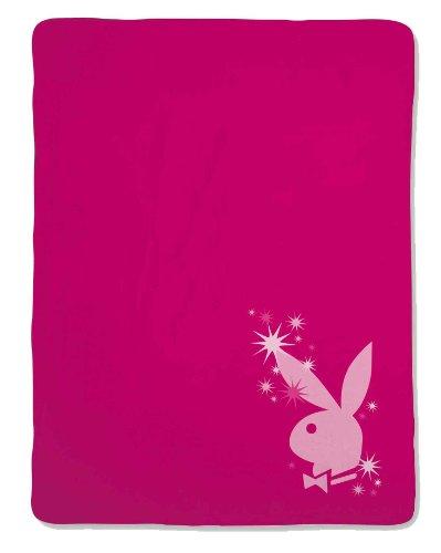 Playboy Fleece Decke Sparkling Bunny, raspberry 150x200 cm