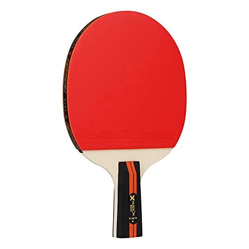 LINGOSHUN Juego de Raquetas de Ping Pong,Paleta de Ping Pong Deportivo,Raquetas de Tenis de Mesa Recreativa para Principiantes y Familias / 3 Stars/Short handle