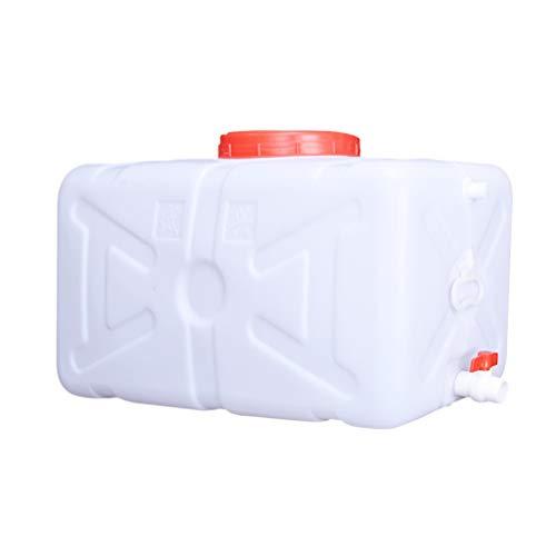 WYNZYYX 25L-45L Recipiente De Almacenamiento Extra Grueso Tanque De Agua Horizontal De Calidad Alimentaria Cubo Hogar Plástico Agua Al Aire Libre con El Grifo (Size : 30L)
