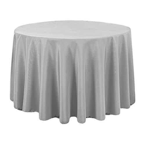 DaoRier Moderne Einfachheit Tischdecke, Grau Rund Tischwäsche Tischtücher Restaurant Hotel Bankett Tischdecken