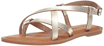 Amazon Essentials Women s Casual Strappy Sandal Gold 8 B US
