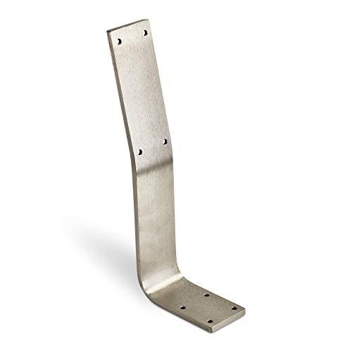 Rückenlehnenhalterung TAB Edelstahl gebürstet Profil 60 x 8 mm Höhe: 323,5 Tiefe: 123 mm Rücklehne Rückenlehnen-Halterung für Sitz-Bank & Betten von Sotech