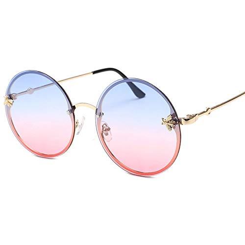 Gafas Sol Mujer,Moda Mujer Poco Abeja Sin Cerco Redondo Gafas De Sol,...