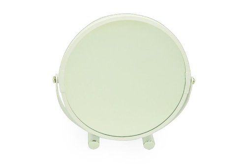 Opportunity 48JY120408480 Miroir Grossissant x1 et x2 avec Pied Fer Laqué Blanc