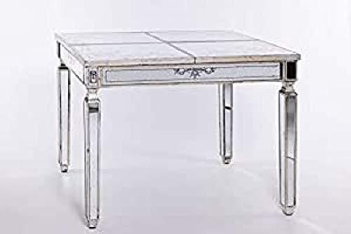 Mesa de Comedor Crudo Mdf y Espejo Provenzal 106 x 81 x 78