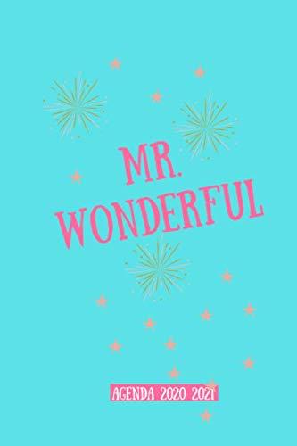 Mr wonderful agenda 2020 2021: Agenda scuola 2020-2021, Agenda giornaliera 12 mesi, Diario scolastico, Agenda settimanale, formato A5, calendario, ... annuale, planner, orario lezioni, organizer