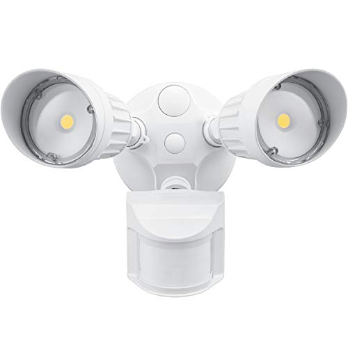 Leonlite 20W Dual-Head Motion Sensor LED Outdoor Flood Security Light