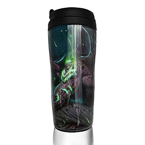 World Warcraft - Taza de café con aislamiento térmico duradero y protección del medio ambiente con funda reutilizable de doble capa antiquemaduras, funda multiusos portátil, base antideslizante