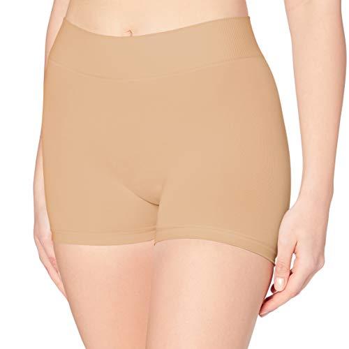 PIECES Pclondon Mini Shorts Noos Culotte, Beige (Nature Nature), 36 (Talla...