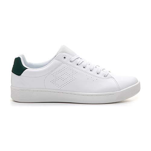 Lotto 210639 1l4 sneakers voor heren, wit/groen