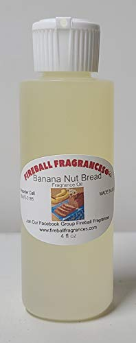 Banana Nut Bread ~Fresh Baked Banana Bread in The Oven Scented Oil by Fireball Fragrances -Large 4 Oz Bottle!