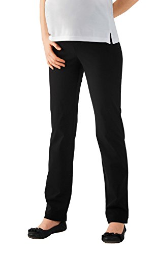 Christoff Umstandshose Schwangerschaftshose Jersey-Hose Dora - Straight Fit Stretch-Hose - hoher Bund - 53/33/9 - schwarz - 36 / L32