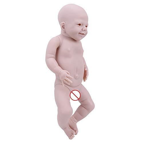 Focket Renacer muñeca, 22 pulgadas kit DIY del silicón lleno cuerpo de la muñeca Mueca Ojos Abiertos
