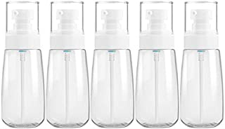 JINTONGJU 5 PCS Travel Plastic Bottles Leak Proof Portable Travel Accessories Small Bottles Containers, 80ml(Transparent) Cosmetics (Color : Transparent)
