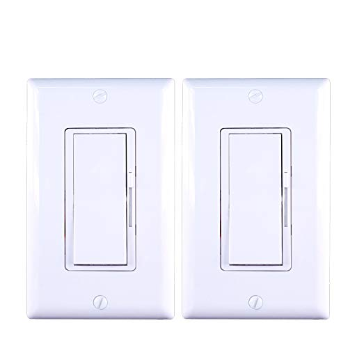 Dimmer switch; For dimmable LED, halogen lamps and incandescent bulbs (white) (2)