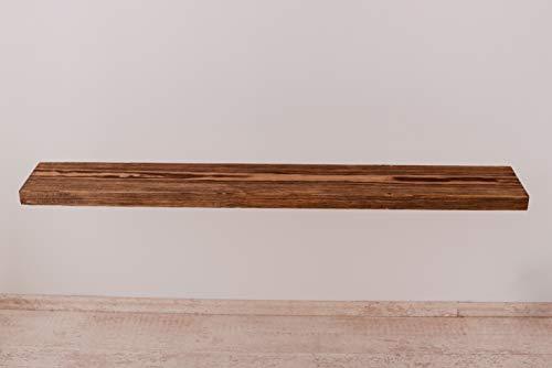Larisa Rustikal Wandregal Dunkle Eiche mit Wachs Bedeckt Verschiedene Längen (120x18)