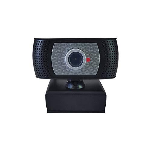 Sahgsa Webcam HD 720P Cámara Web de transmisión para Video Chat y grabación para PC, computadora portátil, cámara Web Plug-and-Play USB para videollamadas, Aprendizaje, conferencias, Juegos