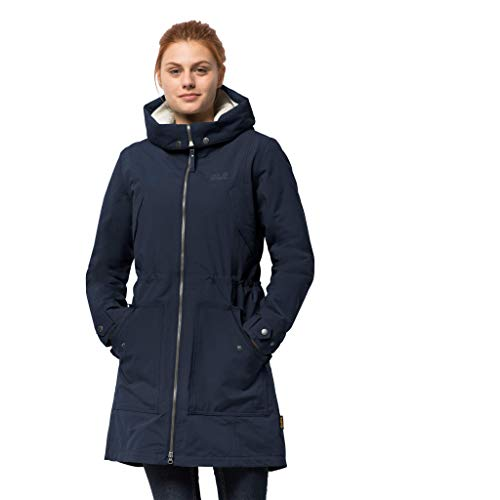 Jack Wolfskin Damen Damen Winterjacke Rocky Point Parka, Midnight Blue, S, 1109372
