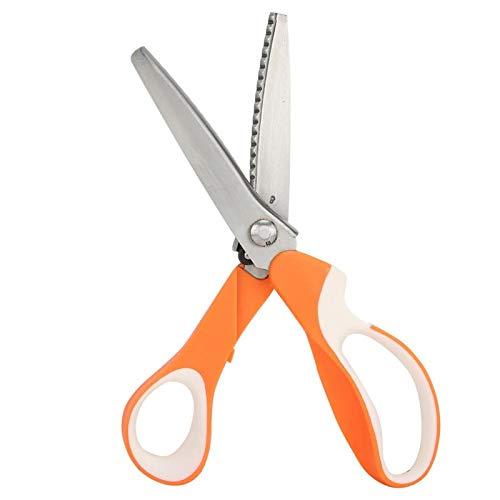 Socobeta Tijeras onduladas coloridas para bordar tijeras, tijeras de coser de tela para coser y hacer a mano (serración emicircular de 5 mm)