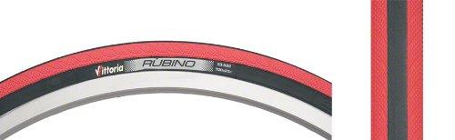 Vittoria Rubino - Neumático para Rueda de Bicicleta Negro/Rojo Talla:700x23