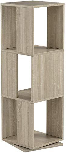 FMD-Möbel Drehregal Tower | In Eiche | 34 x 108 x 34 cm | 291-001