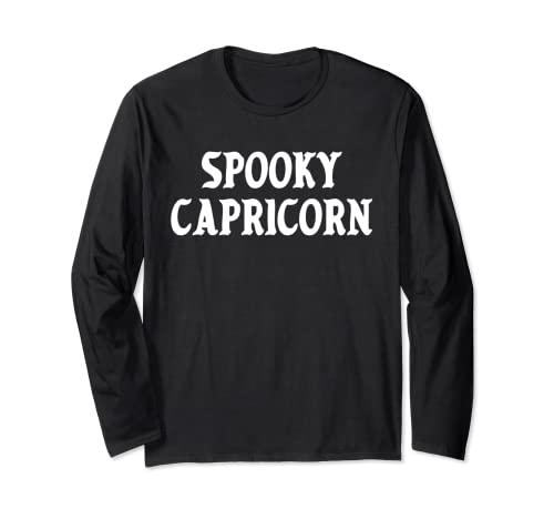 Spooky Capricornio Kawaii E-Girl Goth Halloween Horóscopo Manga Larga