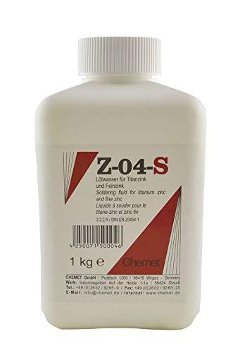 1000g Chemet Lötwasser Z-04-S zum Weichlöten von stark oxidiertem Titanzink & Feinzink