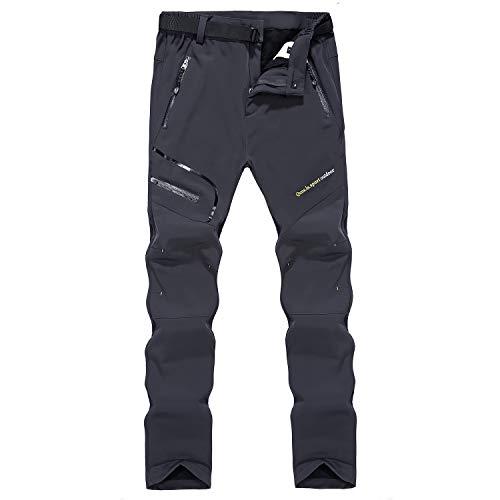 Naudamp Pantalones de Senderismo Forrados con Forro Polar de Invierno Softshell para...