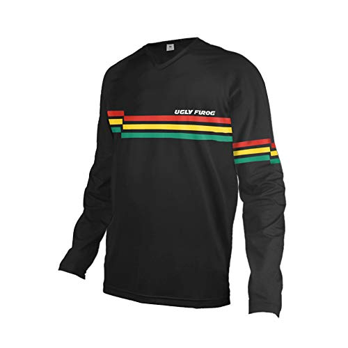 UGLY FROG Fahrrad Trikots & Shirts Bekleidung Herren - Radfahrer - Mountain-Bike - MTB - BMX - Biker - Rennrad - Outdoor - Downhill Jersey- Freeride - Special Designs Kurz/Langarm DEHerDownFT05