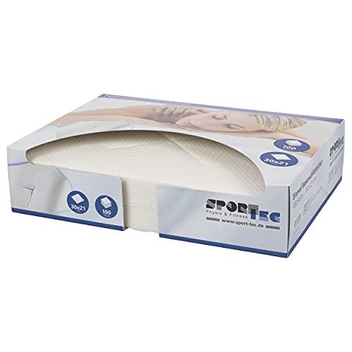 Sport-Tec Einmal-Nasenschlitztücher/Gesichtsauflage, Massageliegen, Hygieneauflage,Abeckung Beauty SPA Massage 30x21 cm, 100 Stück, in der Spenderbox