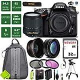 Nikon D7200 DSLR Camera 18-140mm VR Lens Bundle (18-140mm VR Lens, Standard Bundle 1)