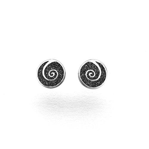 DUR Damen Ohrstecker ''Spirale'' aus 925er Silber O4829