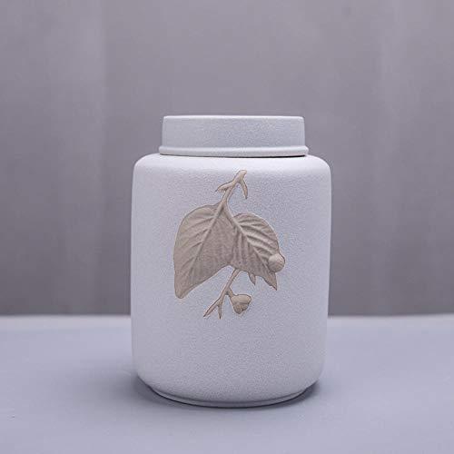 unbrand Tasse Maulbeerblatt Versiegelte Teekanne Keramikkanne Teelager Teekanne-Weiß