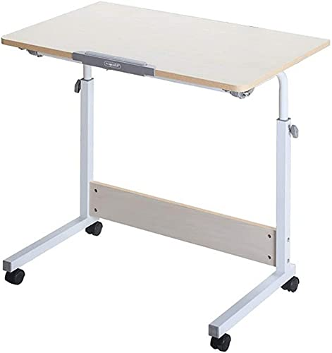 Muebles modernos, escritorio plegable simple para computadora portátil, mesa auxiliar con soporte para computadora portátil de altura ajustable, mesa de sofá cama con escritorio inclinable 31.5 x 15.
