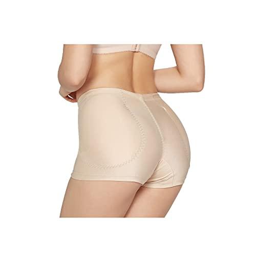 Levanta Glúteos Braguitas Mujeres Sexy Nalgas Falsas Tope Bragas Medias Cintura Esponja Almohadilla simulación Nalgas llenas Pantalones Pantalones Moldeadores (Color : Beige, Waist : 67-73CM)