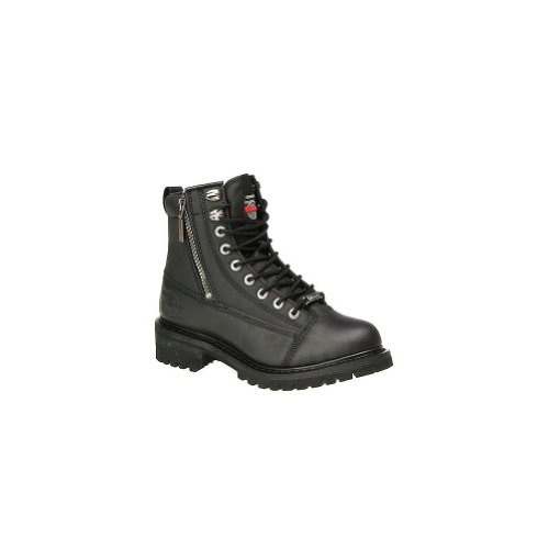 Black, Size 9.5 Milwaukee Motorcycle Clothing Company Mens Afterburner Boots