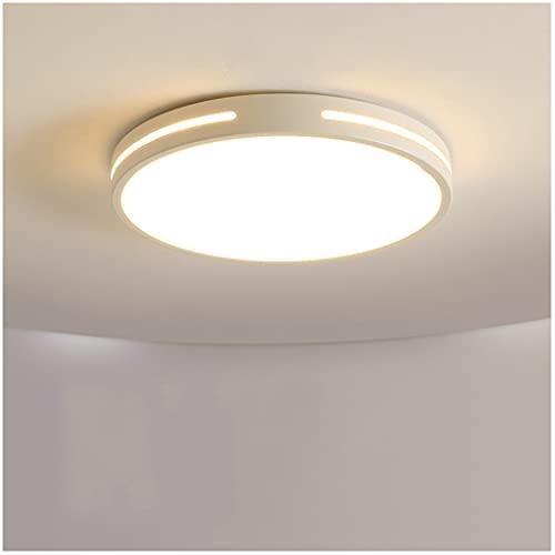 GCHH Lámpara De Techo Led Lámpara De Techo De Hierro Labrado Luces De Techo Luces De Techo Circular Luz De Techo Moderna Led para Cocina, Sala De Estar, Salón, Pasillo (24w 2100lm 6500k 14㎡)
