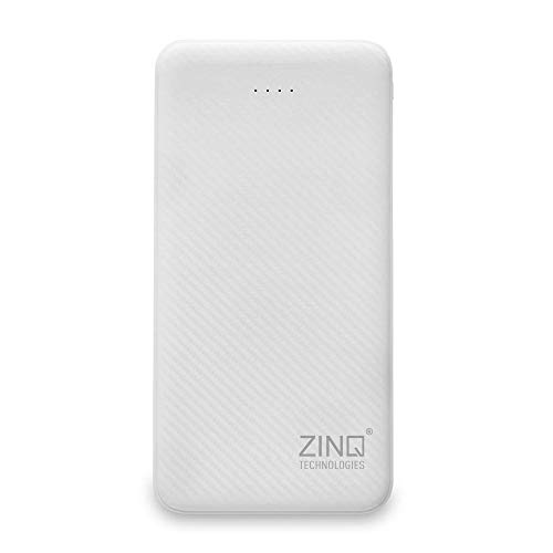 Zinq ZQ10KPC 10000mAH Lithium Polymer Power Bank with Dual Input (White)
