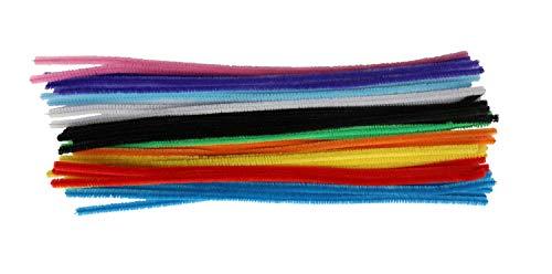 GLOREX Mix de fils chenilles, Multicolore, 30 cm
