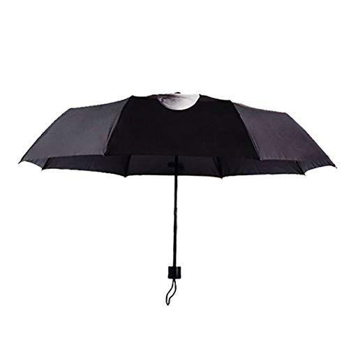 WASD Taschenschirm Creative Cool Mittelfinger Regenschirm Schatten, Winddicht Mode Regenschirm Outdoor Reise,Black