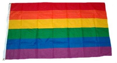 Fahne / Flagge Regenbogen NEU 150 x 250 cm Flaggen