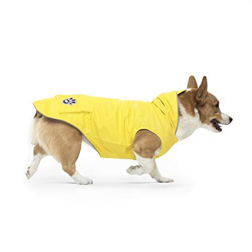 Canada Pooch Dog Rain Jacket - Torrential Tracker Dog Raincoat Waterproof Dog Jacket (Yellow, 18)