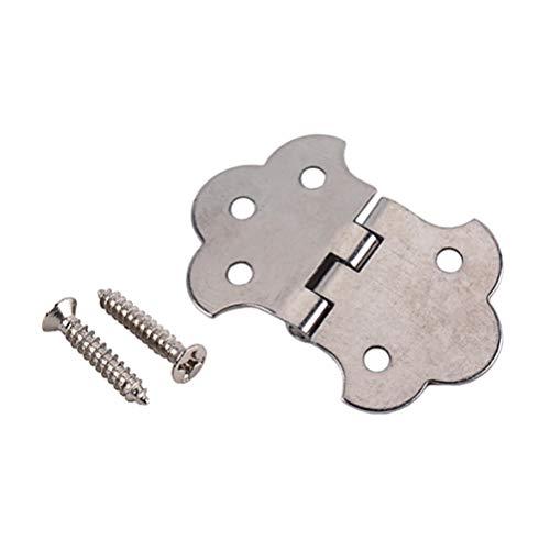 Artibetter Metalen Sigarenkistje Gitaar Messing Scharnier Staartstuk Met Schroeven Voor 3-Snarige Sigarenkistje Gitaar (Zilver)