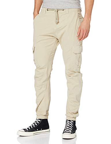 Urban Classics Herren Hose Cargo Jogging Pants, Beige (Sand), L