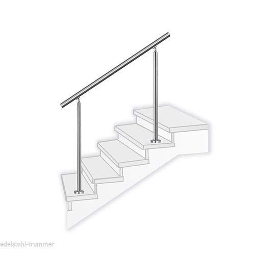 Treppengeländer Edelstahl TURIN V2A Handlauf Verschiedene Längen 80-200cm