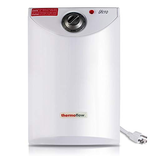 Thermoflow UT10 2.5 Gallons Electric Mini-Tank Water Heater for Under Sinks 110V - 120V, 1.5kW at 120 Volts