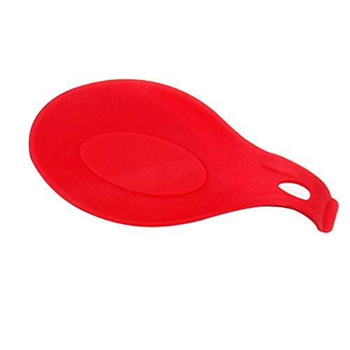 QHGstore Multipurpose Spoon Silicone Rest Pad Food Grade Silica Gel Spoon Mettez Mat Dispositif