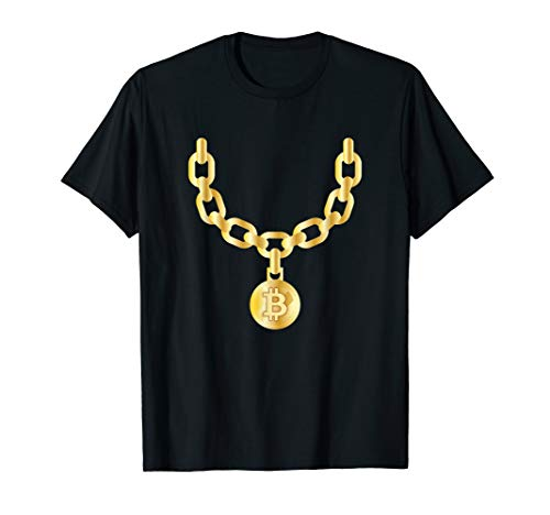 Bling Bling Bitcoin Gold Chain Funny CryptoCurrency T-Shirt