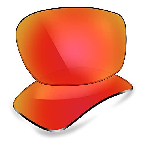 ThunderClap Lentes de repuesto polarizadas para gafas de sol Oakley Siphon OO9429, Aurora Red - Polarizado, Talla única