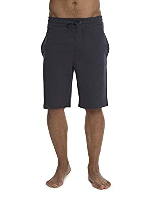 Barefoot Dreams Malibu Collection Men's Brushed Jersey Short, Drawstring Shorts, Workout/Gym Clothes Indigo